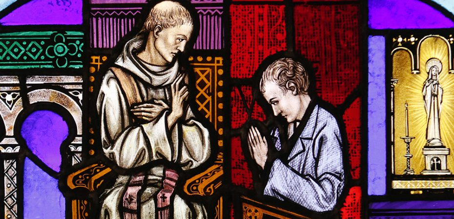 CONFESSION STAINED GLASS