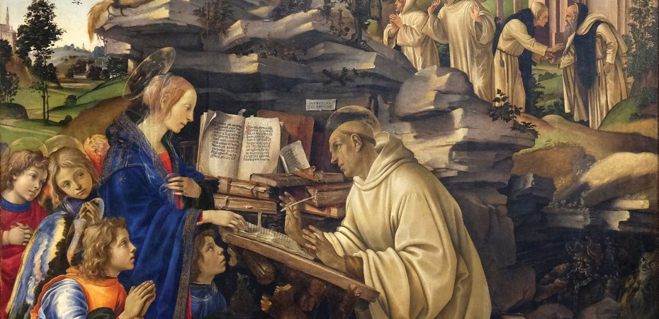 The Apparition of the Virgin to St. Bernard of Clairvaux, by Filippino Lippi
